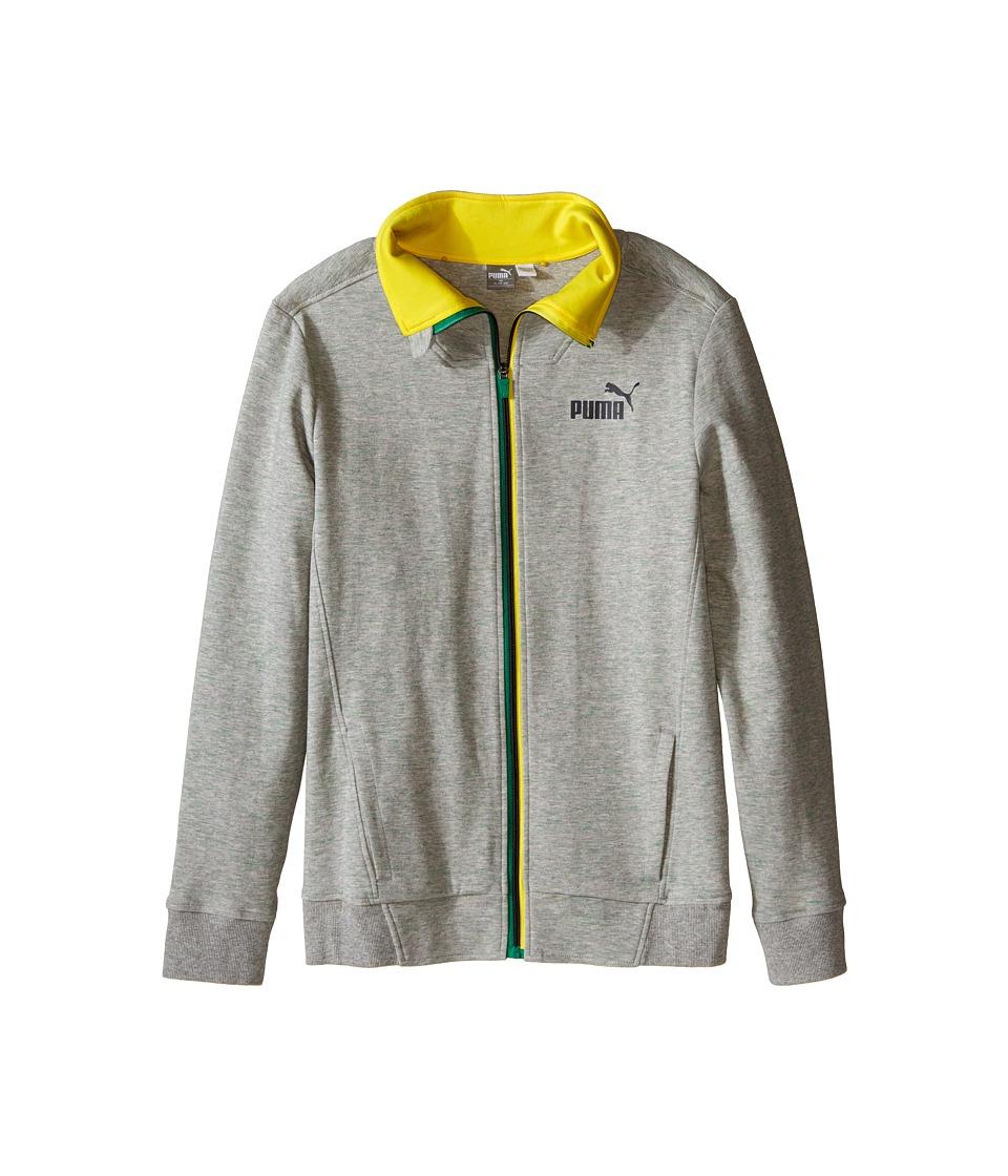 Puma Kids - Fast Track Jacket (Big Kids) (Light Grey Heather) Boy's Clothing