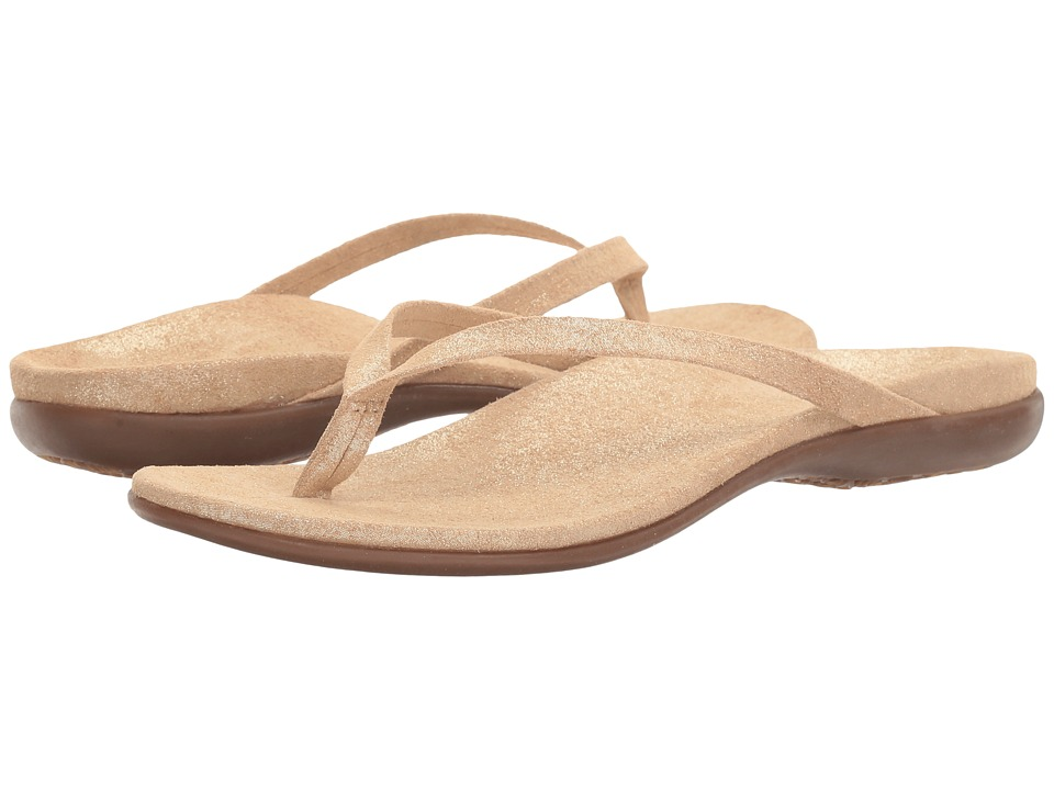VIONIC - Corfu (Light Tan Pixel Suede) Women's Sandals