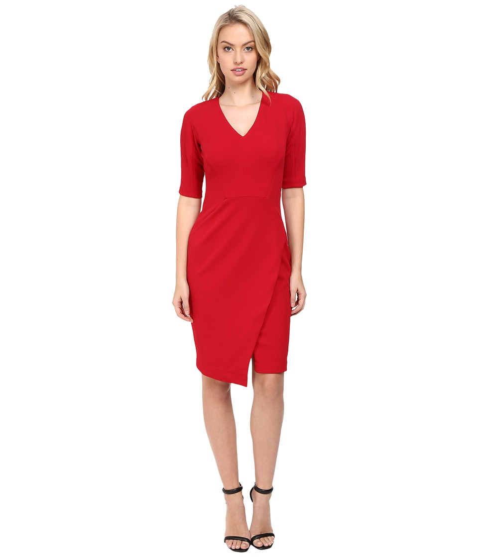 Maggy London - Casablanca Crepe Sheath Dress with Elbow Sleeves (Ribbon Red) Women's Dress