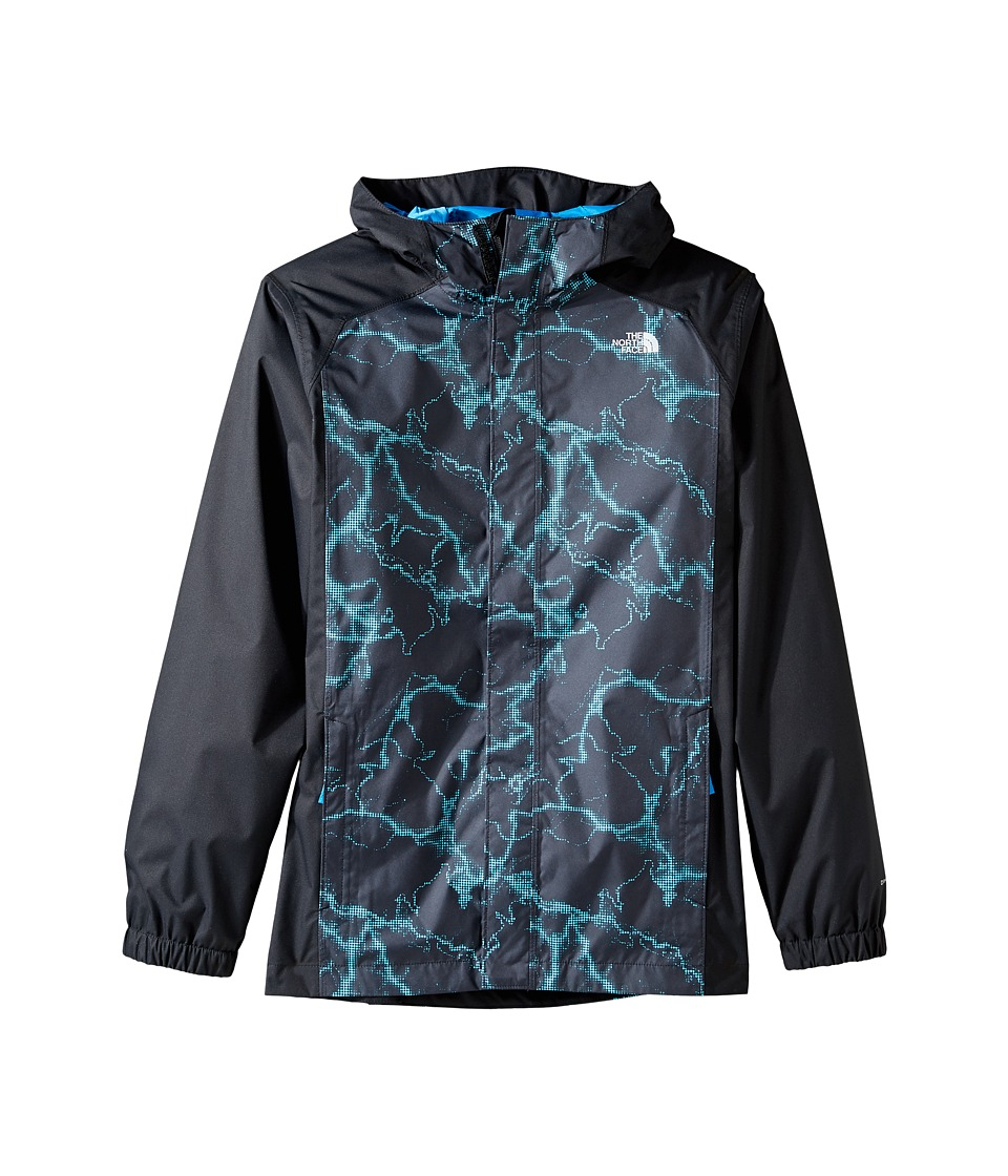 The North Face Kids - Resolve Reflective Jacket (Little Kids/Big Kids) (Cascade Blue Lightning Print (Prior Season)) Boy's Coat