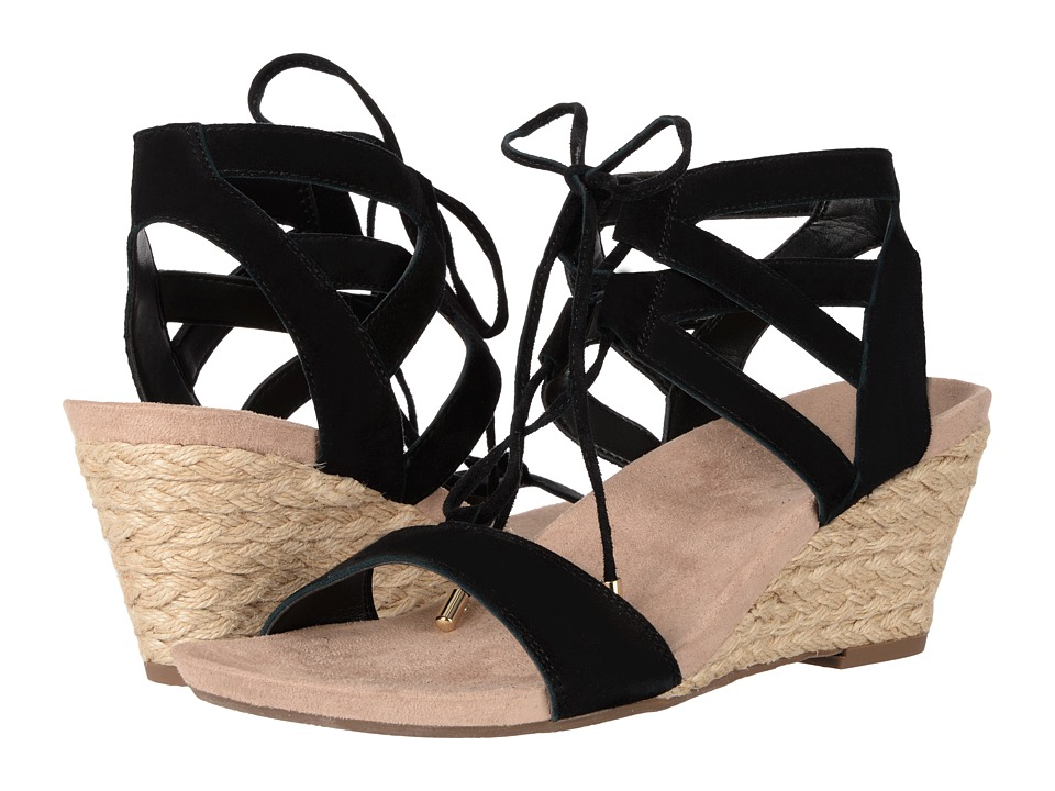 VIONIC - Tansy (Black Suede) Women's Wedge Shoes