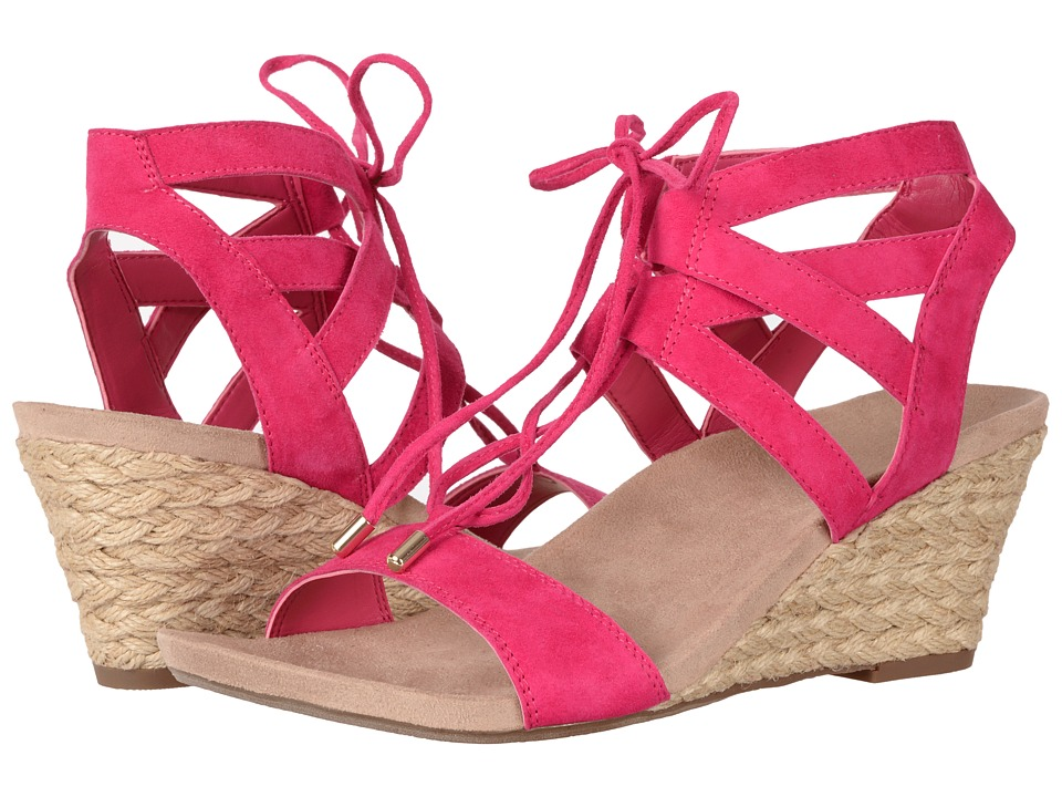 VIONIC - Tansy (Pink Suede) Women's Wedge Shoes
