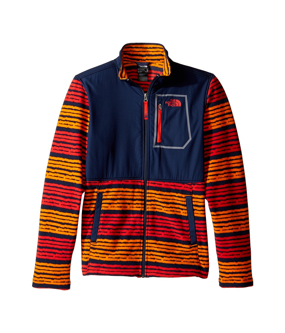 The North Face Kids - Glacier Track Jacket (Little Kids/Big Kids) (Cosmic Blue Digi Stripe Print (Prior Season)) Boy's Coat