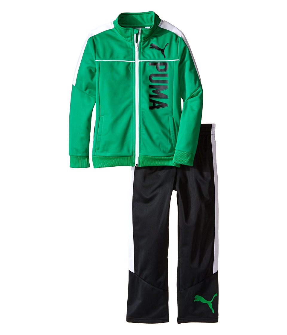 Puma Kids - Color Blocked Track Suit (Little Kids) (Astro Turf) Boy's Suits Sets