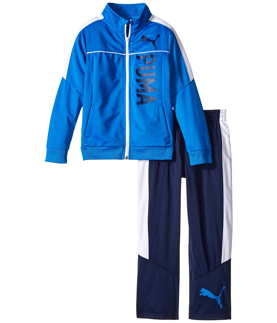 Puma Kids - Color Blocked Track Suit (Little Kids) (Sky Blue) Boy's Active Sets