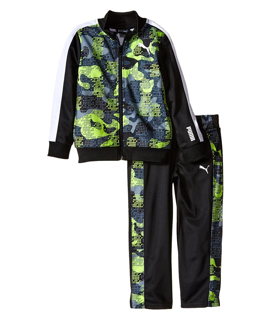 Puma Kids - Camo Printed Track Suit (Toddler) (PUMA Black) Boy's Active Sets