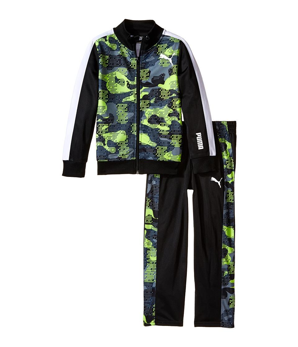 Puma Kids - Camo Printed Track Suit (Little Kids) (PUMA Black) Boy's Active Sets