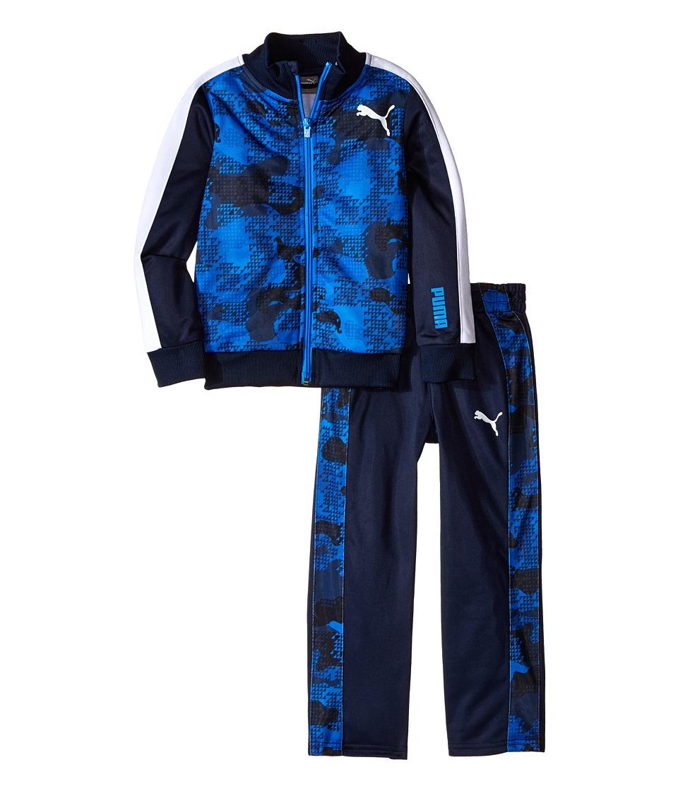 Puma Kids - Camo Printed Track Suit (Little Kids) (Deep Navy) Boy's Suits Sets