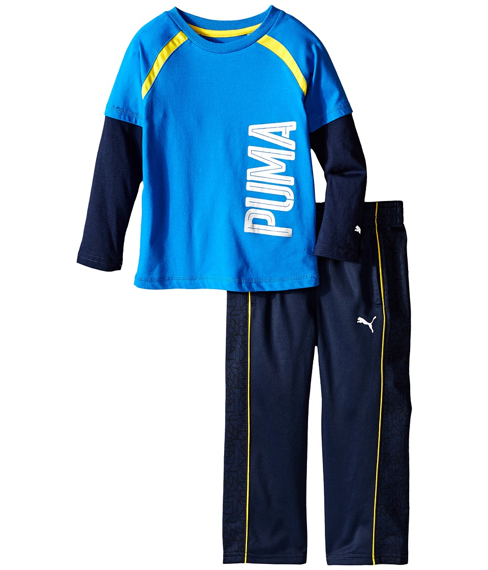 Puma Kids - Two-Piece Printed Pants Set (Toddler) (Deep Navy) Boy's Active Sets