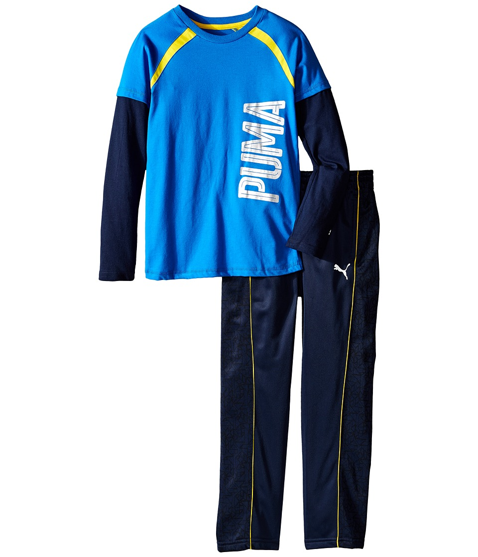 Puma Kids - Two-Piece Printed Pants Set (Little Kids) (Deep Navy) Boy's Active Sets