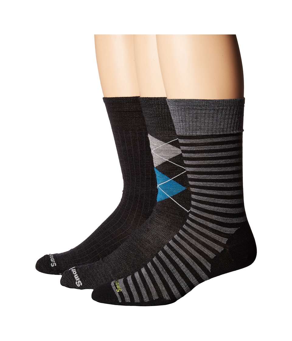 Smartwool - Trio Crew 3-Pack (Multicolor) Men's Crew Cut Socks Shoes