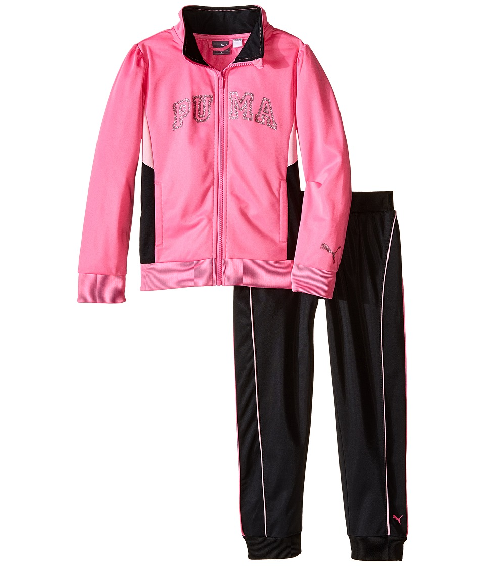 Puma Kids - Track Set w/ Piecing (Little Kids) (Sugar Plum) Girl's Active Sets