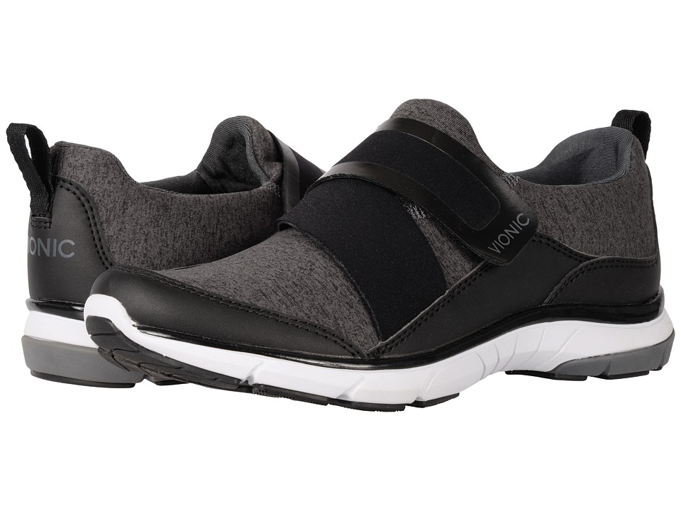VIONIC - Darcy (Black Heather Mesh) Women's Slip on Shoes