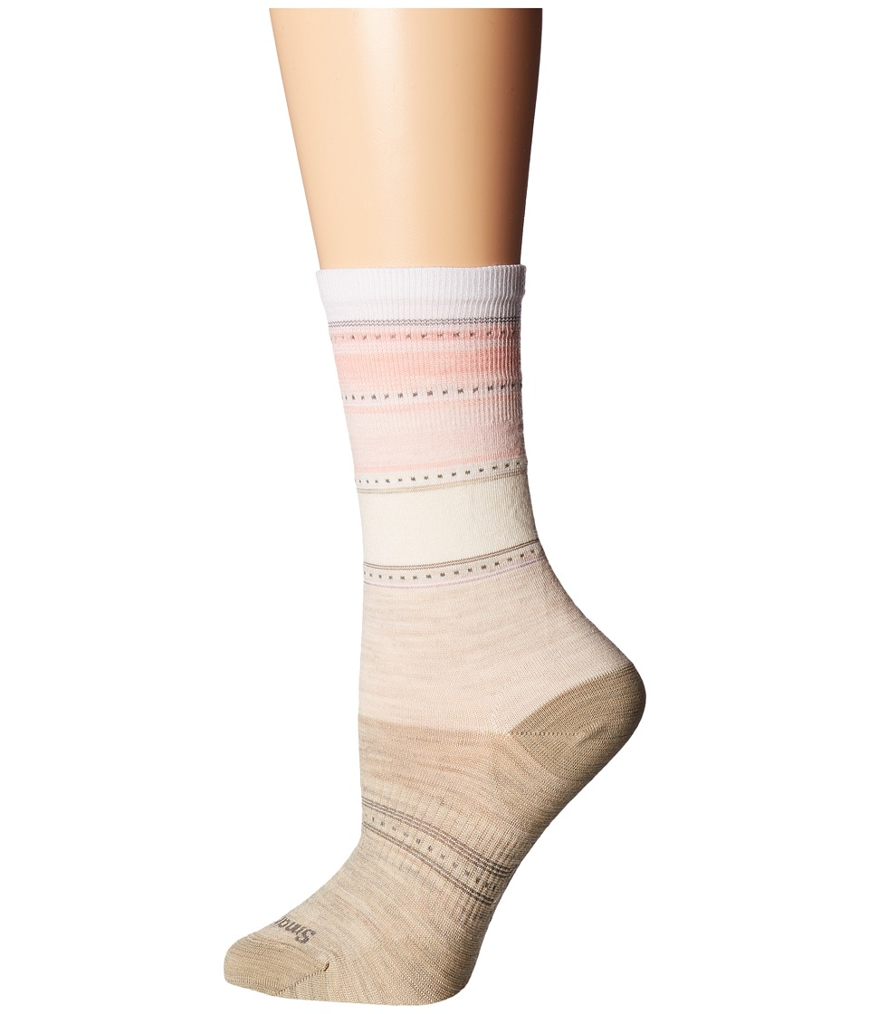 Smartwool - Sulawesi Stripe (Oatmeal Heather/Pink Horizon) Women's Crew Cut Socks Shoes