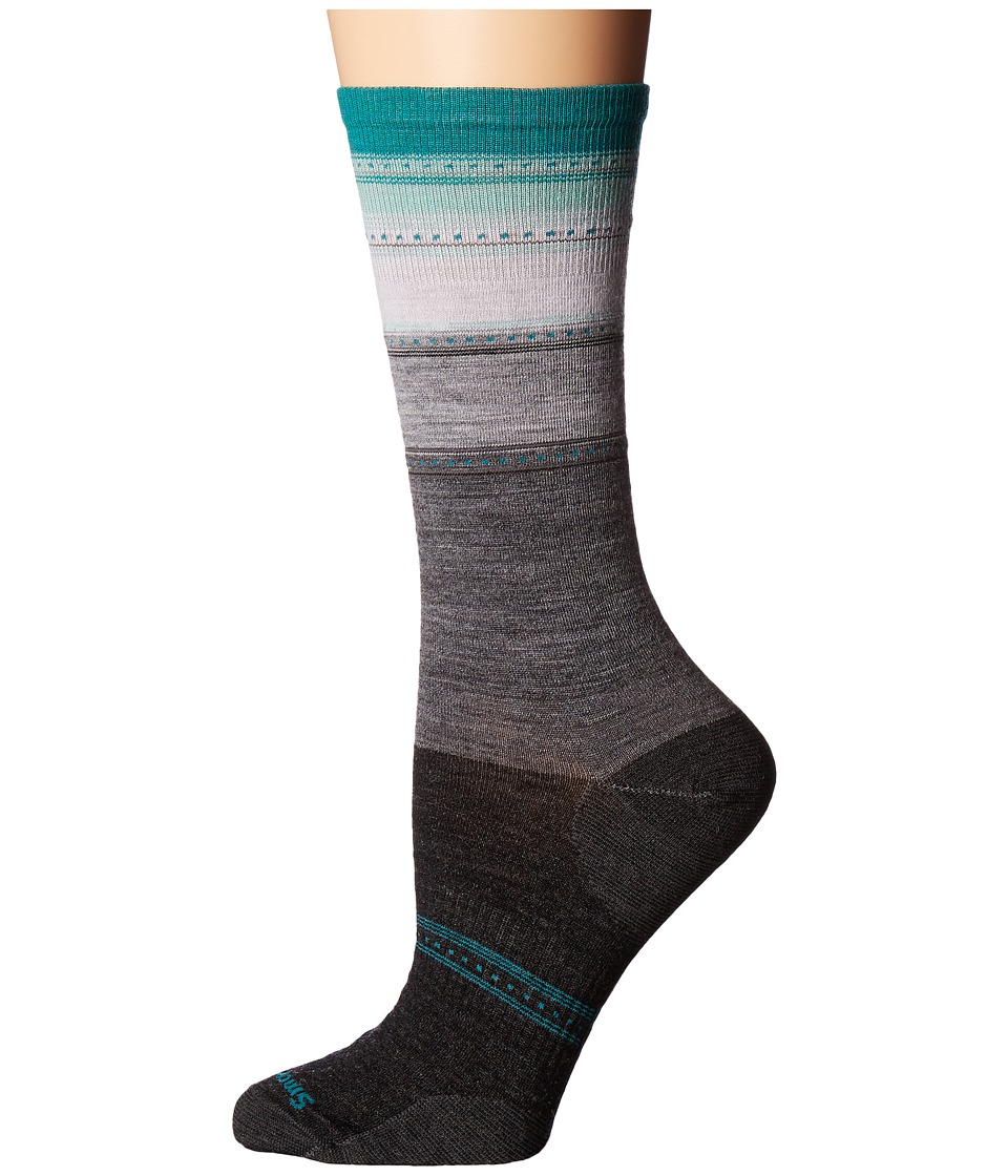 Smartwool - Sulawesi Stripe (Charcoal Heather/Mint) Women's Crew Cut Socks Shoes