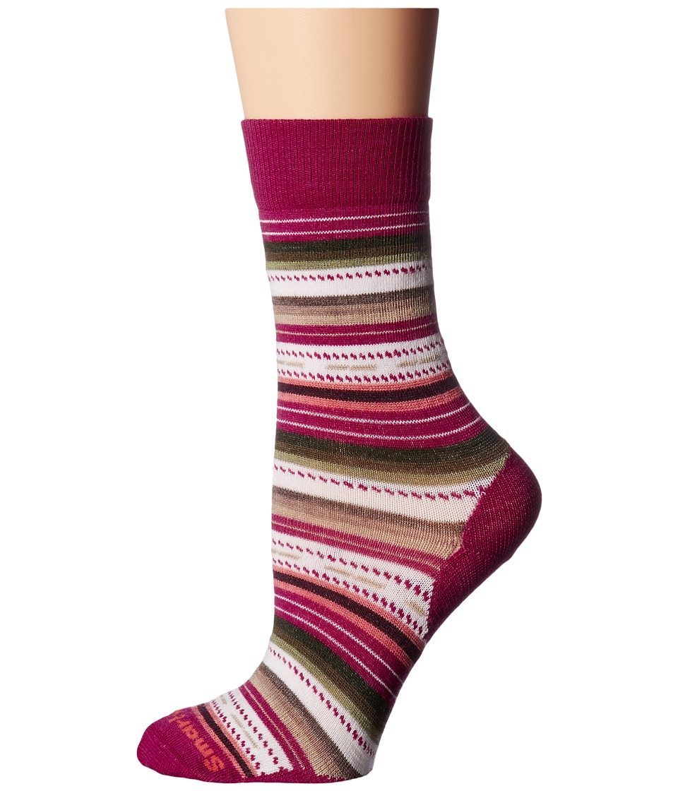 Smartwool - Margarita (Berry) Women's Crew Cut Socks Shoes