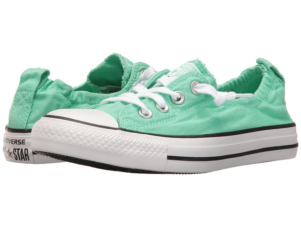 Converse - Chuck Taylor All Star Seasonal Shoreline Slip-On (Green Glow/White/Black) Women's Classic Shoes