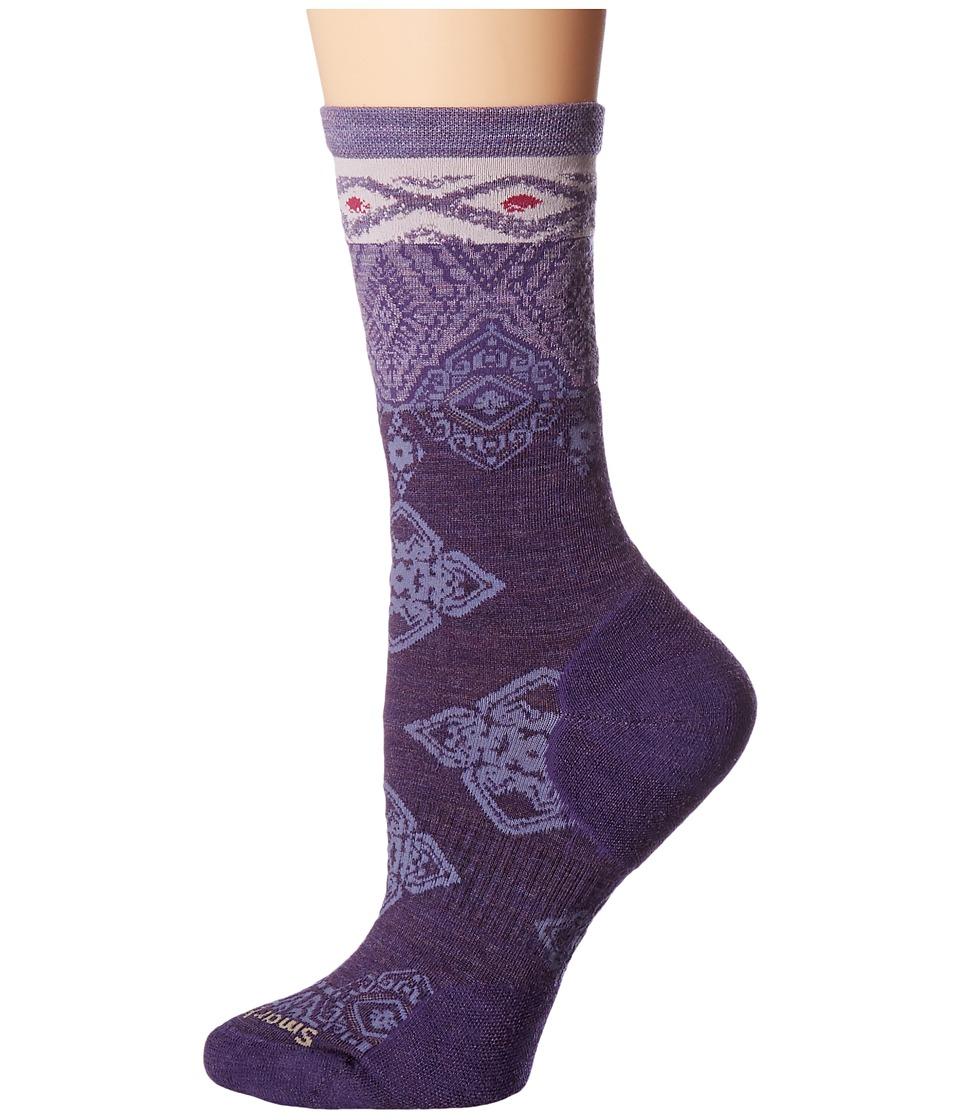 Smartwool - Diamond Royale Crew (Mountain Purple Heather) Women's Crew Cut Socks Shoes