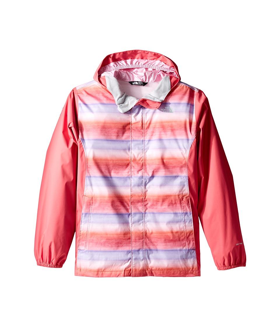 The North Face Kids - Resolve Reflective Jacket (Little Kids/Big Kids) (Honeysuckle Pink Ombre Stripe Rain Print (Prior Season)) Girl's Coat