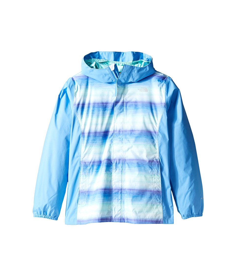 The North Face Kids - Resolve Reflective Jacket (Little Kids/Big Kids) (Provence Blue Ombre Stripe Rain Print (Prior Season)) Girl's Coat