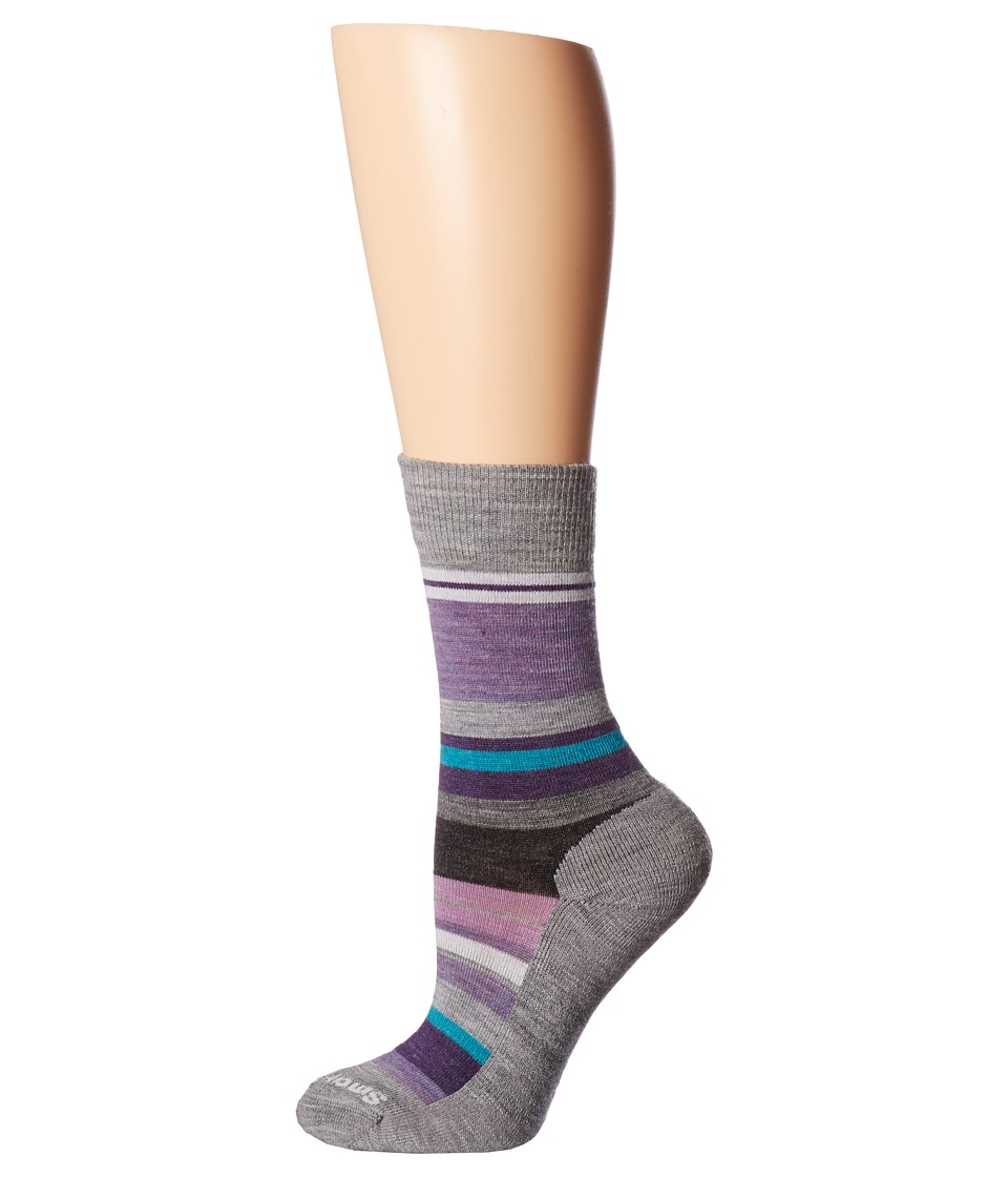 Smartwool - Saturnsphere (Light Gray Heather) Women's Crew Cut Socks Shoes