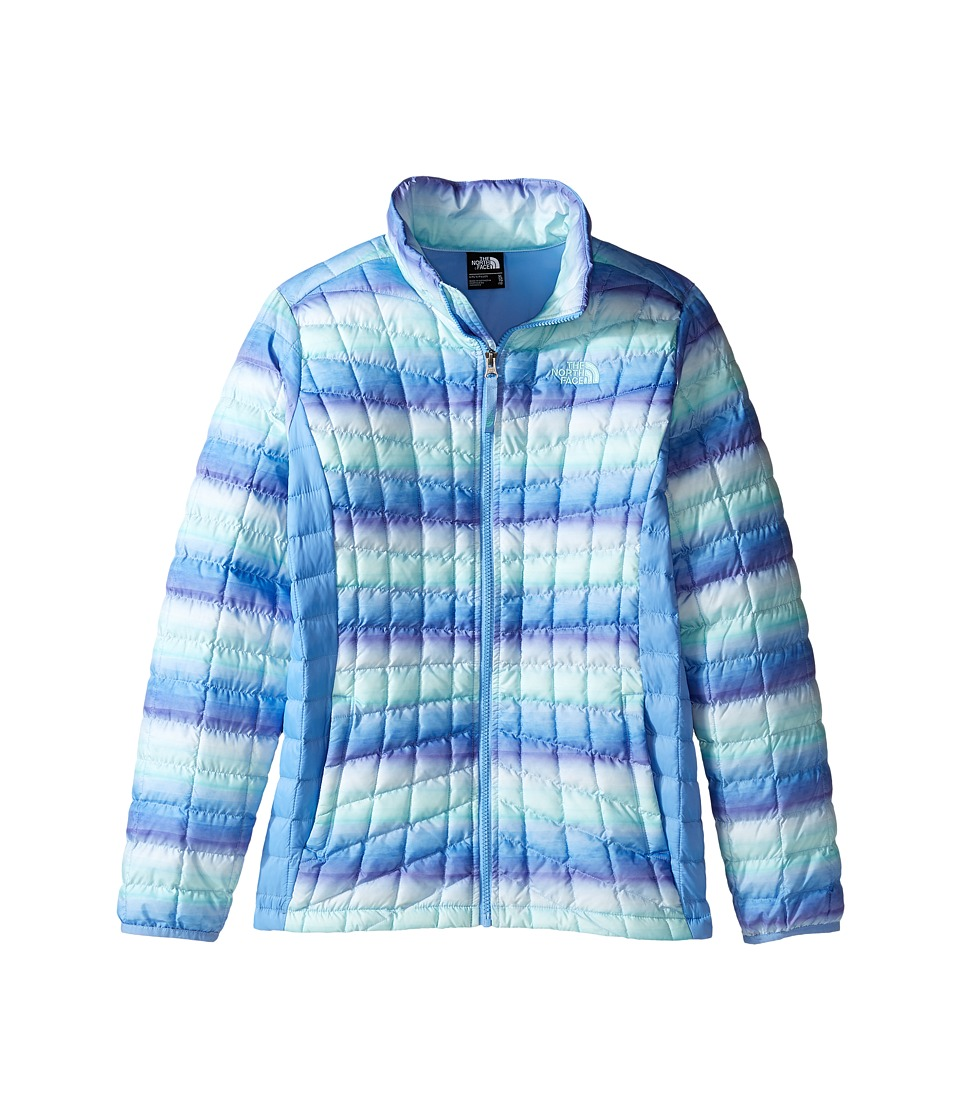 The North Face Kids - Thermoball Full Zip Jacket (Little Kids/Big Kids) (Provence Blue Ombre Stripe Print (Prior Season)) Girl's Coat