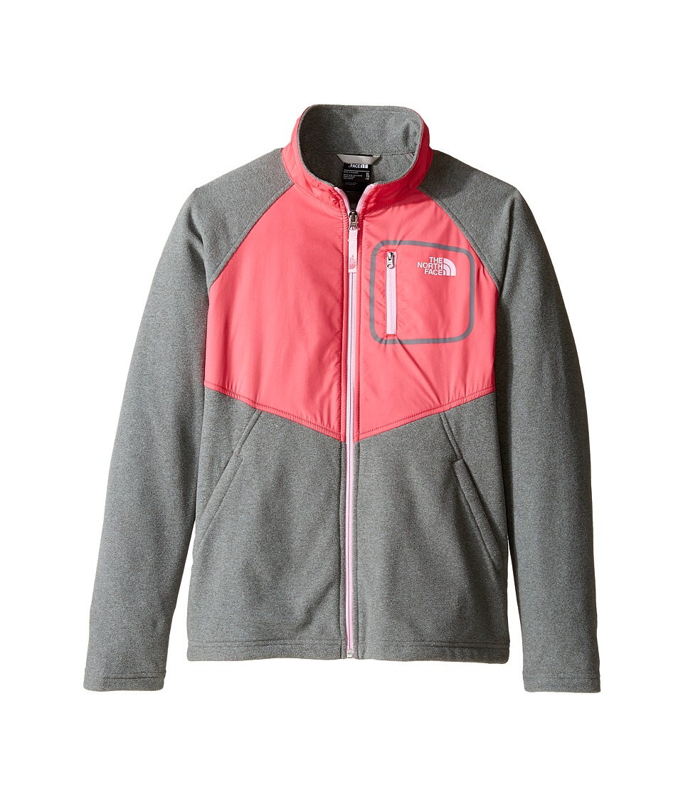 The North Face Kids - Glacier Track Jacket (Little Kids/Big Kids) (TNF Medium Grey Heather (Prior Season)) Girl's Coat