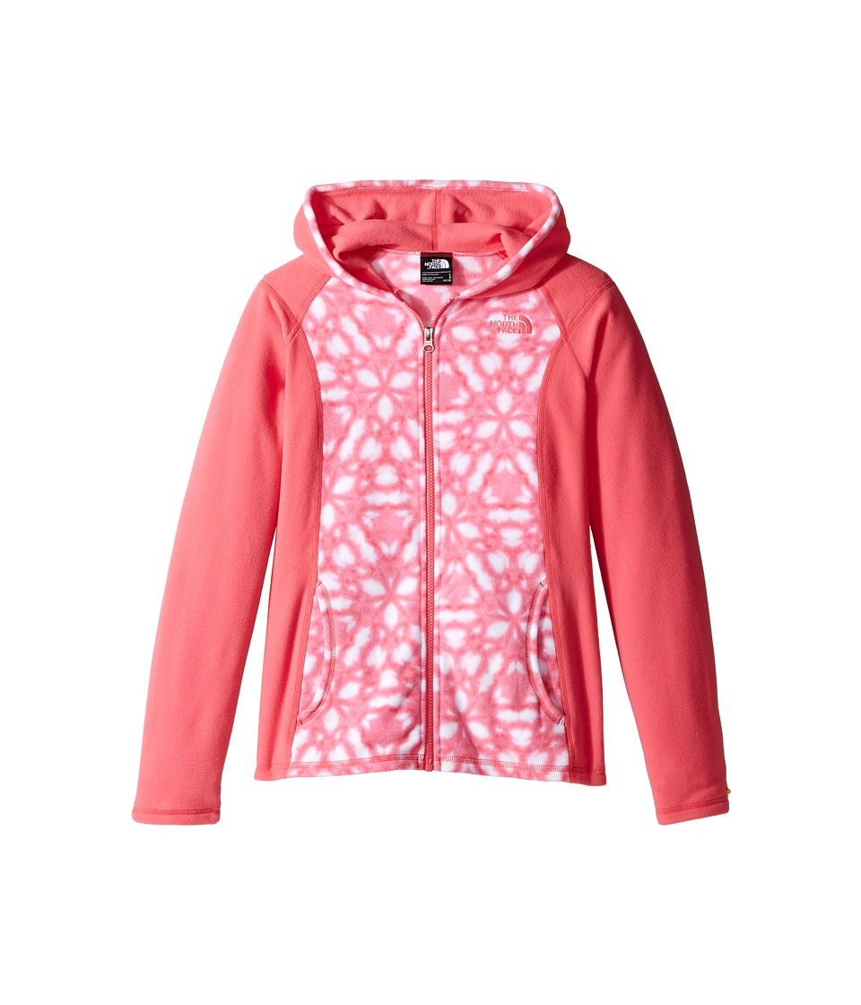 The North Face Kids - Glacier Full Zip Hoodie (Little Kids/Big Kids) (Honeysuckle Pink Shibori Print (Prior Season)) Girl's Fleece