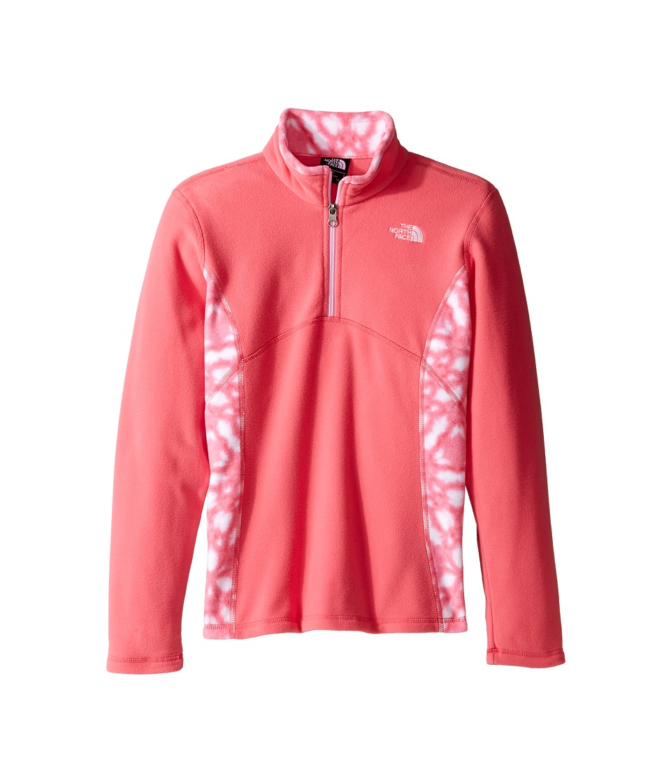 The North Face Kids - Glacier 1/4 Zip (Little Kids/Big Kids) (Honeysuckle Pink/Honeysuckle Pink Shibori Print (Prior Season)) Girl's Long Sleeve Pullover