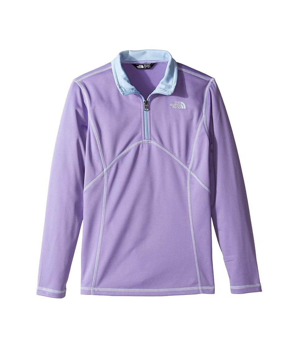 The North Face Kids - Tech Glacier 1/4 Zip (Little Kids/Big Kids) (Paisley Purple (Prior Season)) Girl's Long Sleeve Pullover