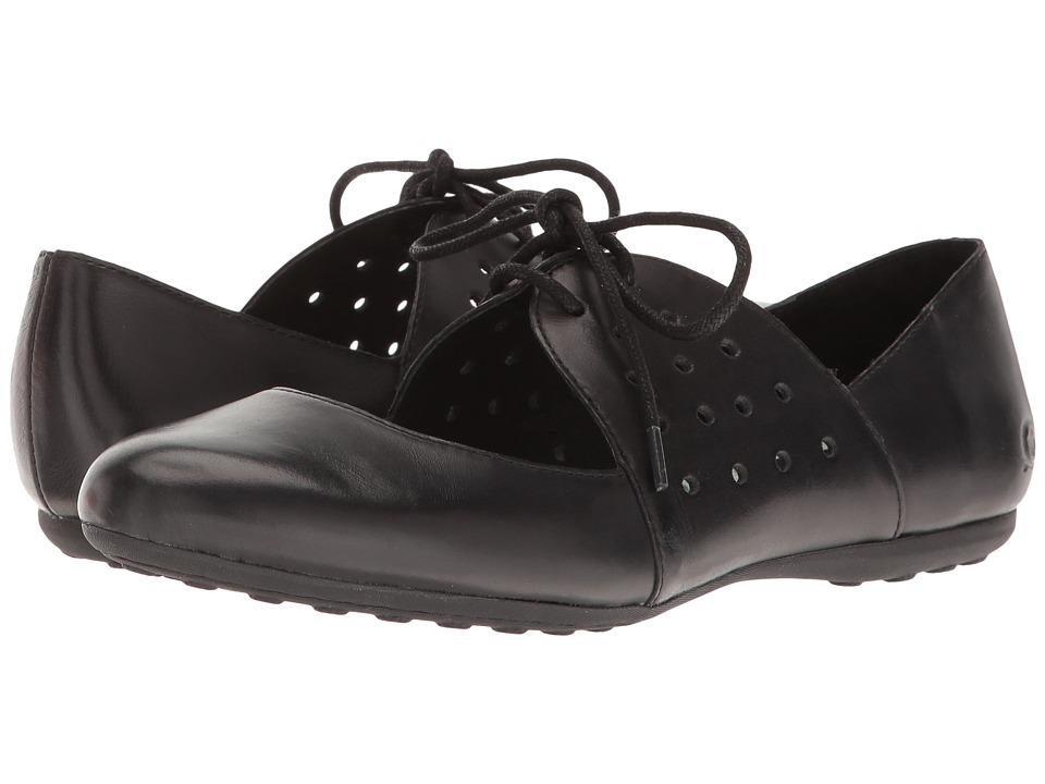 Born - Jakarta (Black Full Grain) Women's Flat Shoes