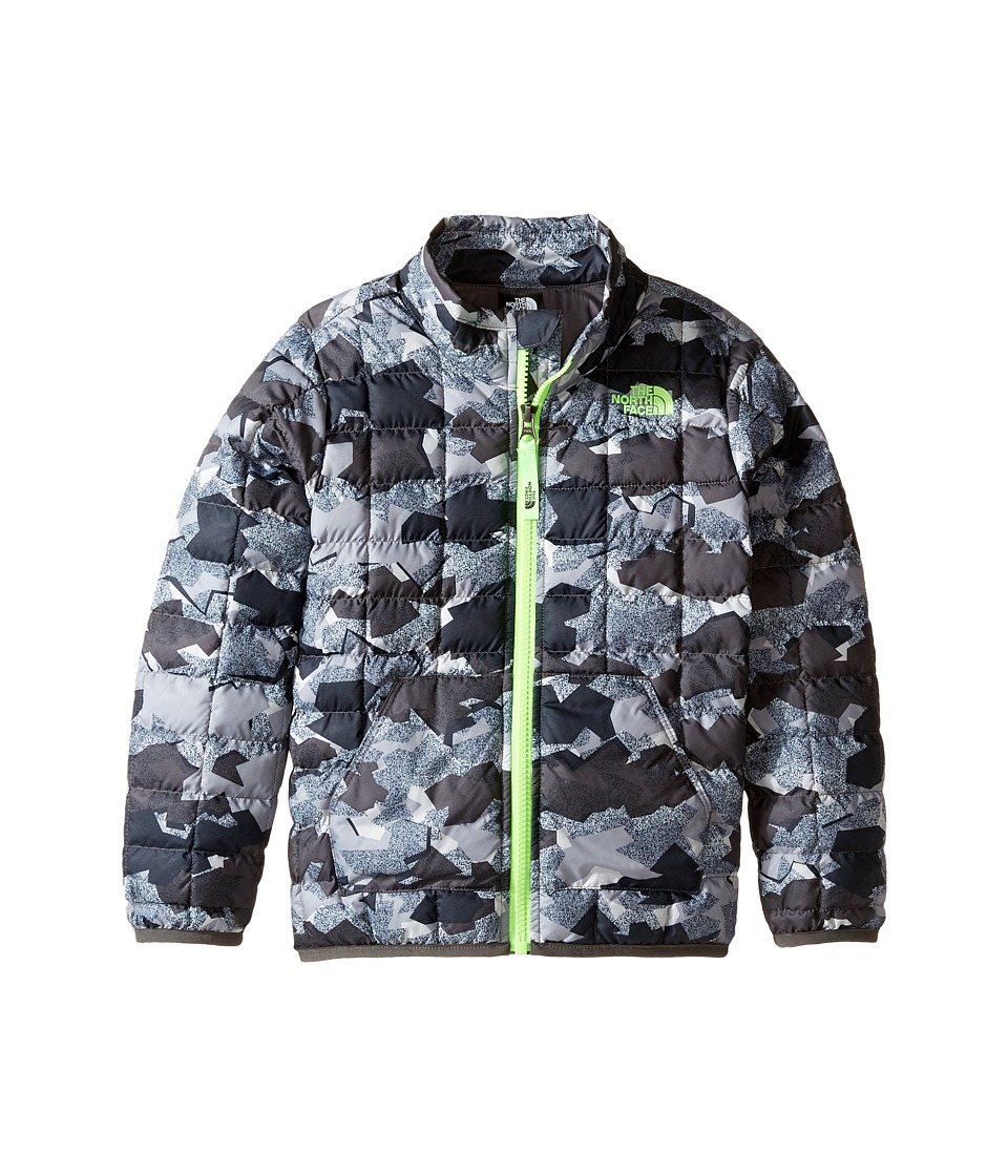 The North Face Kids - ThermoBall Full Zip Jacket (Graphite Grey Geo Plate Camo Print -Prior Season) Boy's Coat