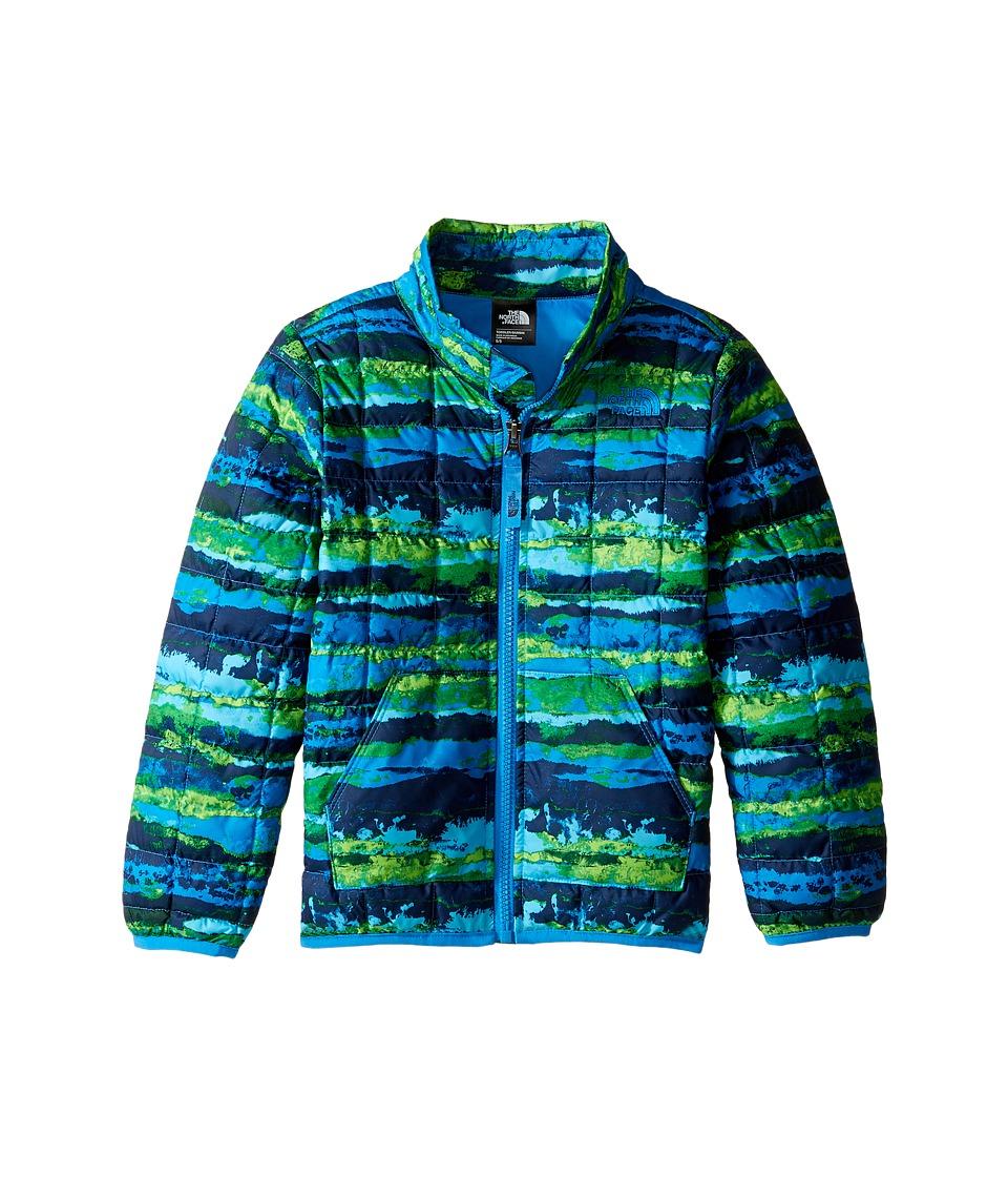 The North Face Kids - ThermoBall Full Zip Jacket (Clear Lake Blue Horizon Print -Prior Season) Boy's Coat