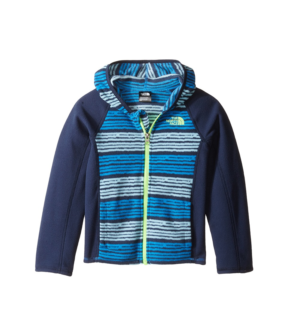 The North Face Kids - Glacier Full Zip Hoodie (Toddler) (Clear Lake Blue Toddler Digi Stripe Print -Prior Season) Boy's Sweatshirt