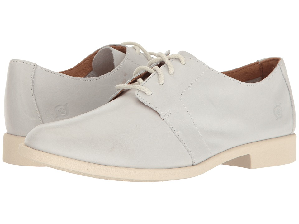 Born - Passi (White Full Grain) Women's Lace Up Wing Tip Shoes