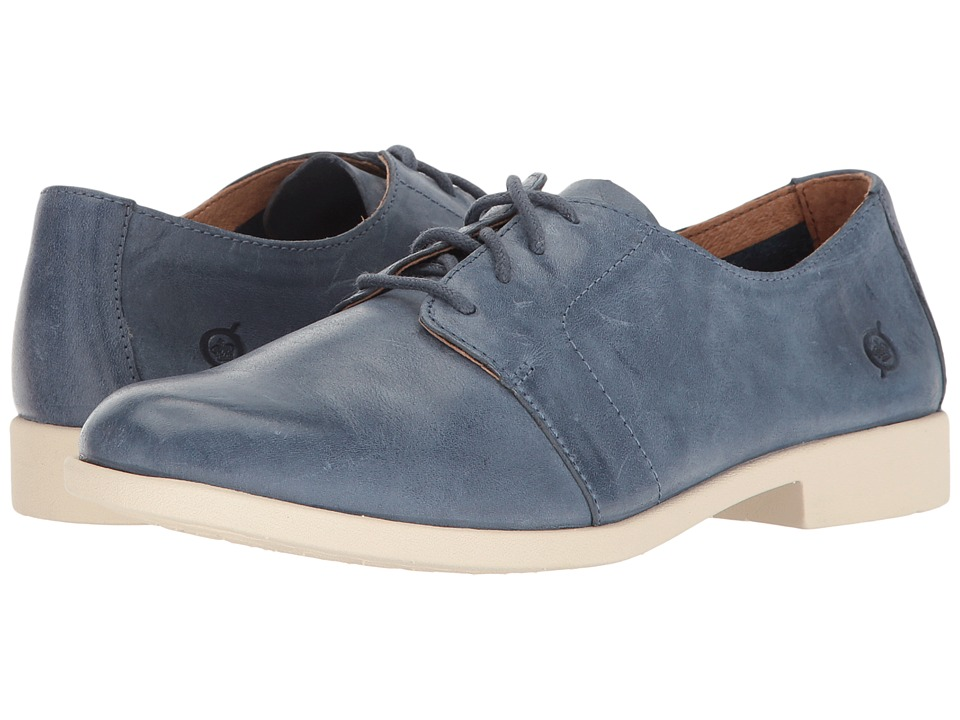 Born - Passi (Navy Full Grain) Women's Lace Up Wing Tip Shoes