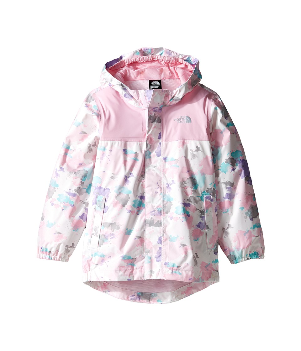 The North Face Kids - Tailout Rain Jacket (Toddler) (Lilac Sachet Pink Watercolor Print -Prior Season) Girl's Jacket