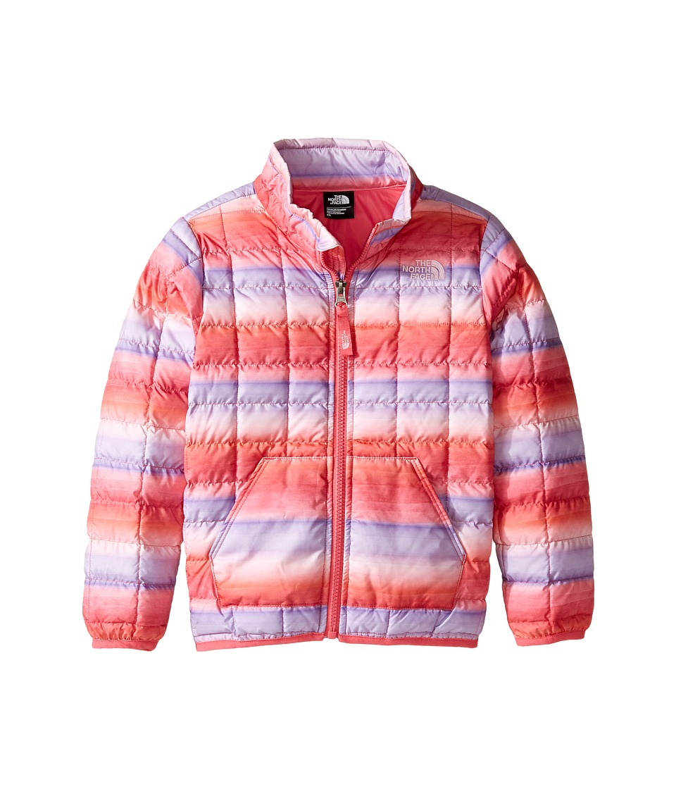 The North Face Kids - ThermoBall Full Zip Jacket (Toddler) (Honeysuckle Pink Ombre Stripe Print -Prior Season) Girl's Coat