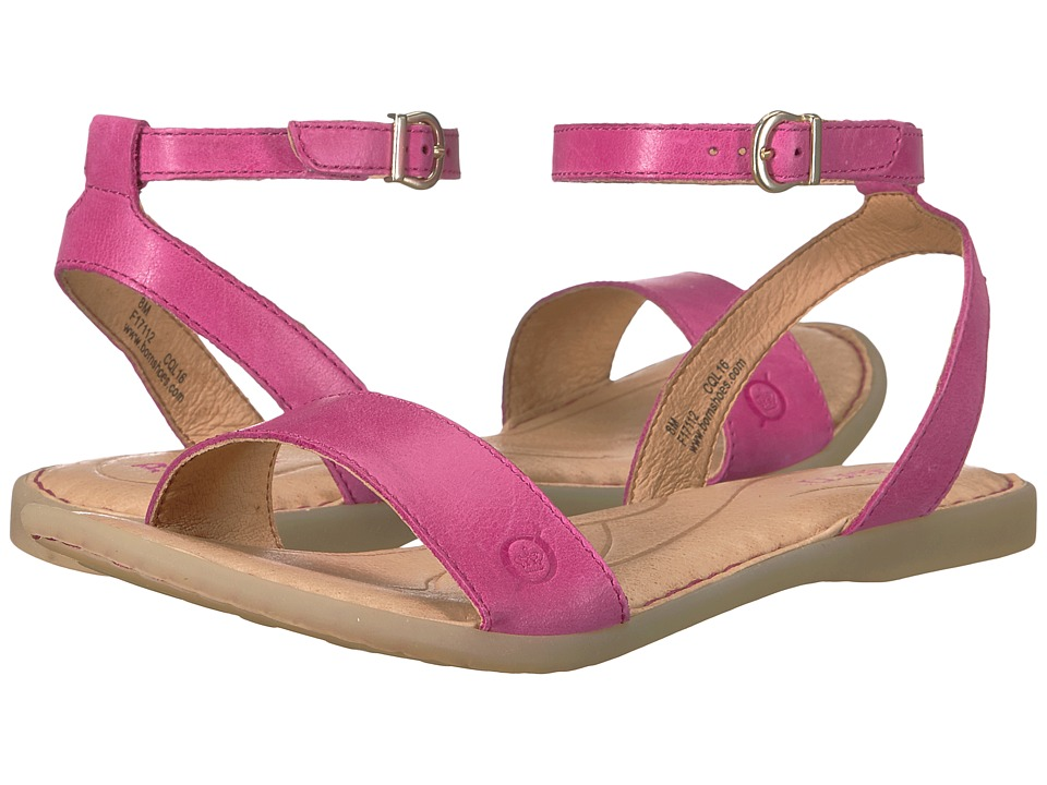 Born Arica (Dark Pink Full Grain) Women's Dress Sandals