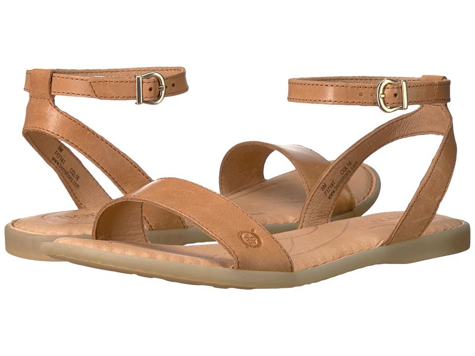 Born - Arica (Light Brown Full Grain) Women's Dress Sandals