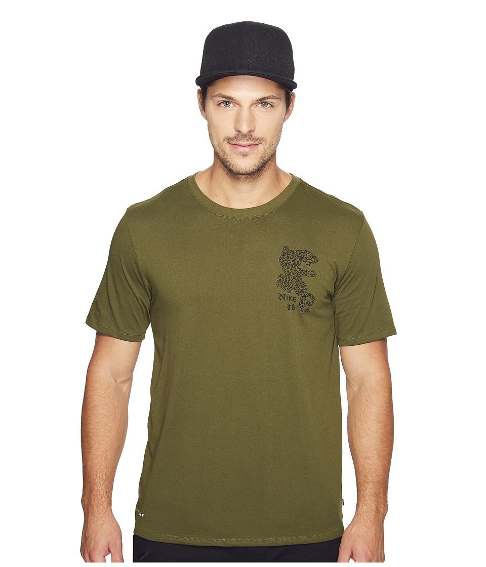 Nike SB - Dry Drift Jag Tee (Legion Green/Black) Men's Clothing