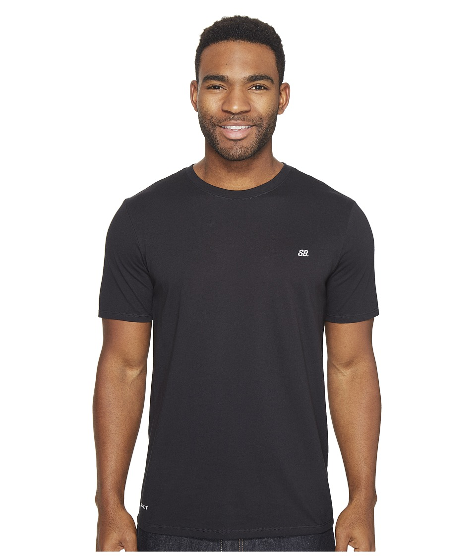 Nike SB - Dot Tee (Black/Black/White) Men's T Shirt