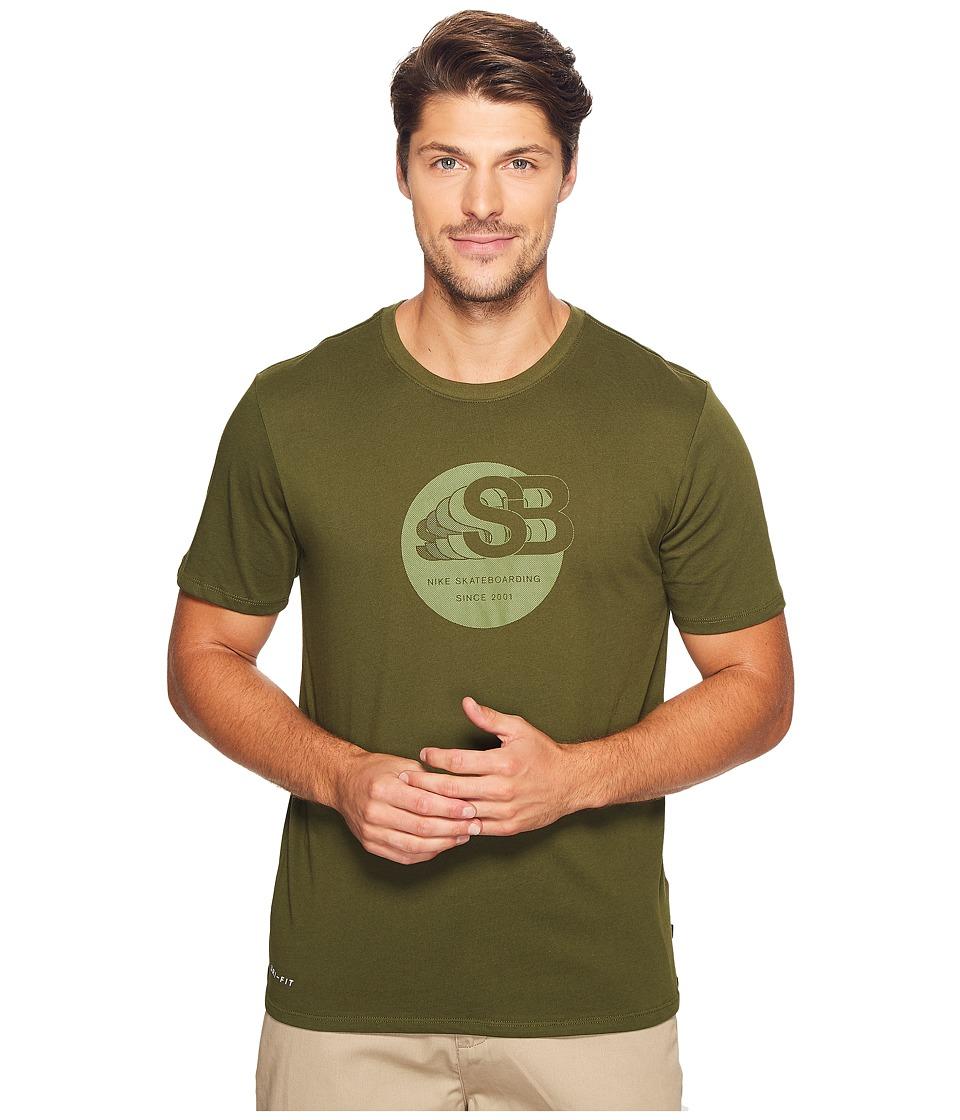 Nike SB - Dry Tee Drift Tonal '17 (Legion Green/Palm Green) Men's Short Sleeve Pullover