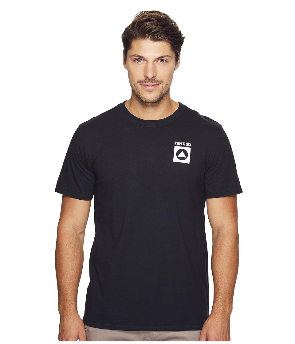 Nike SB - SB CC Balance Tee (Black/White) Men's Short Sleeve Pullover
