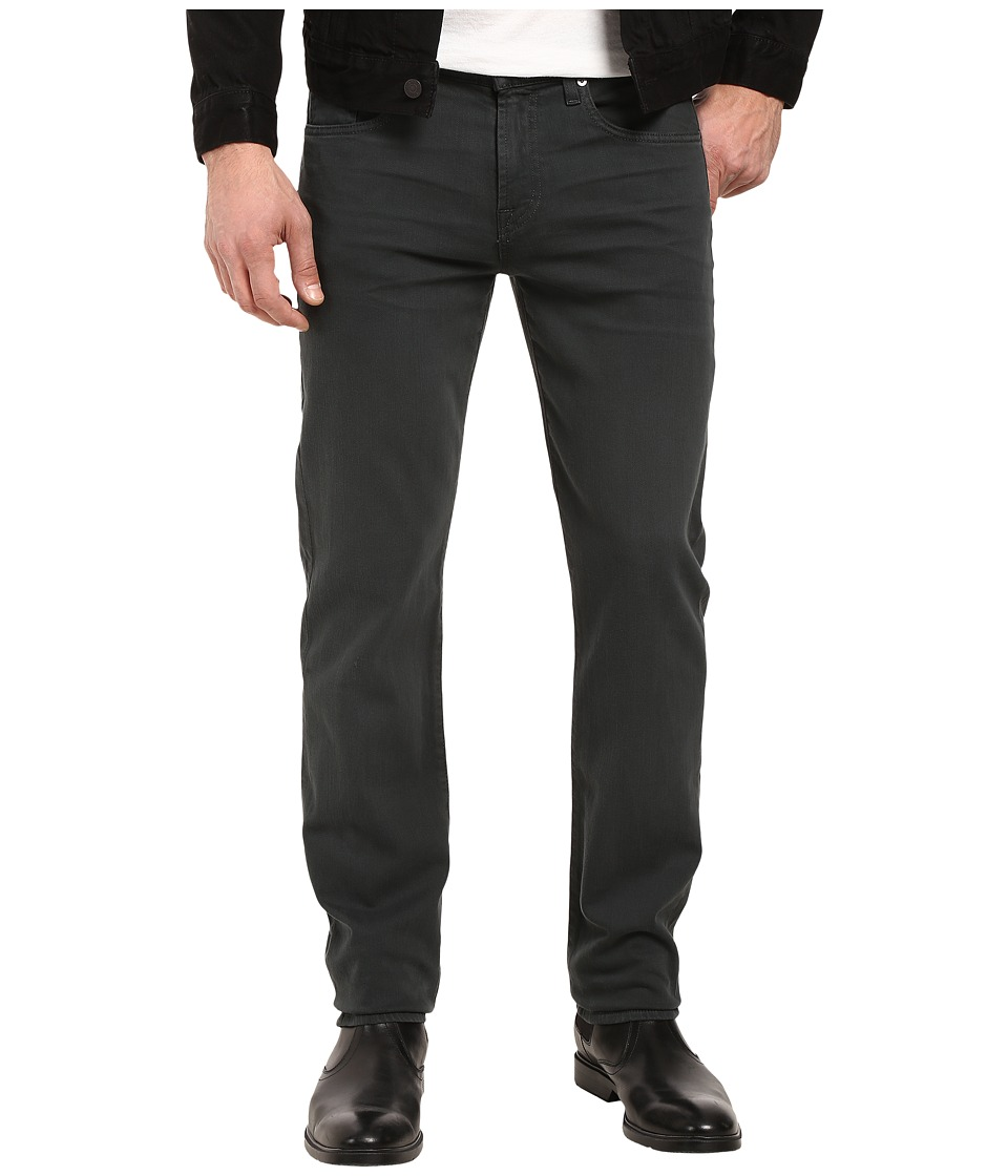 7 For All Mankind - Slimmy Luxe Performance Colored Denim in Black Emerald (Black Emerald) Men's Jeans