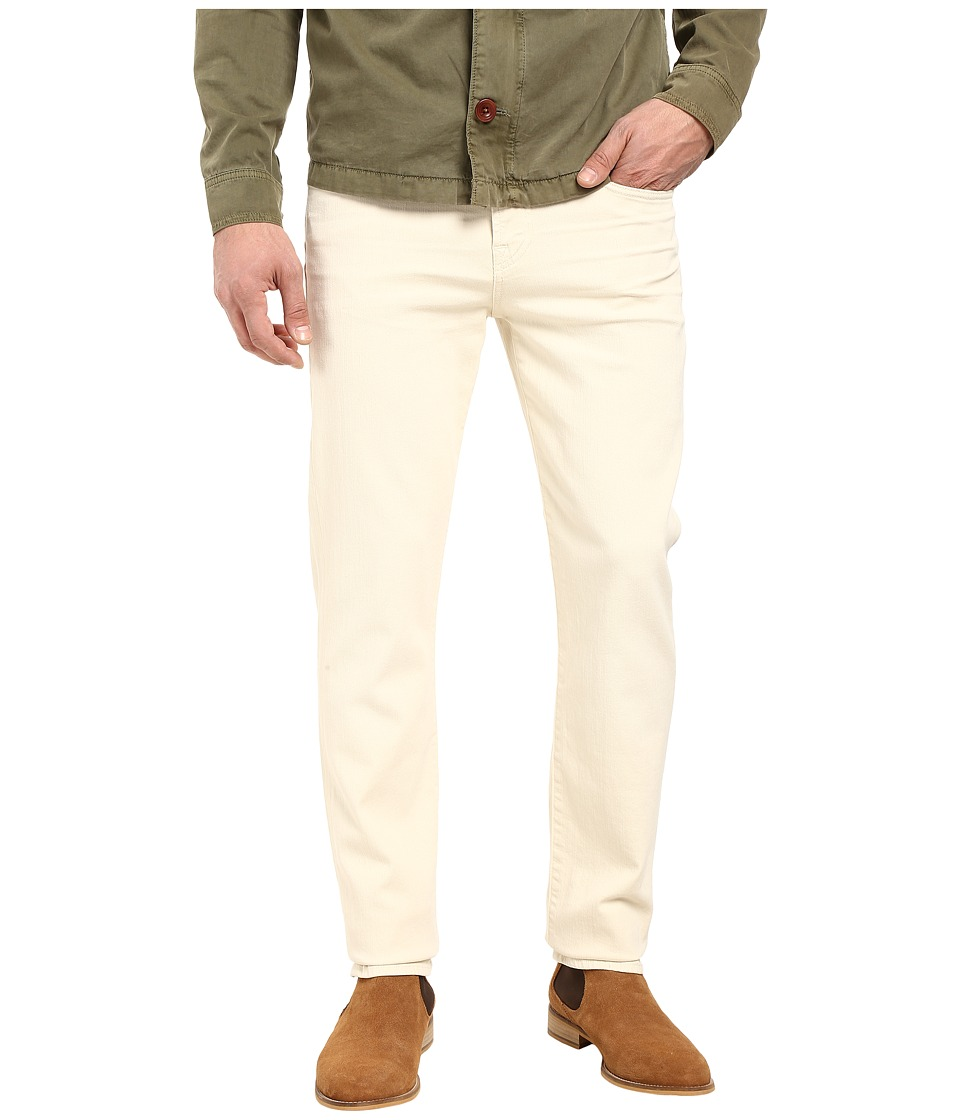 7 For All Mankind - Slimmy Luxe Performance Colored Denim in Bone (Bone) Men's Jeans