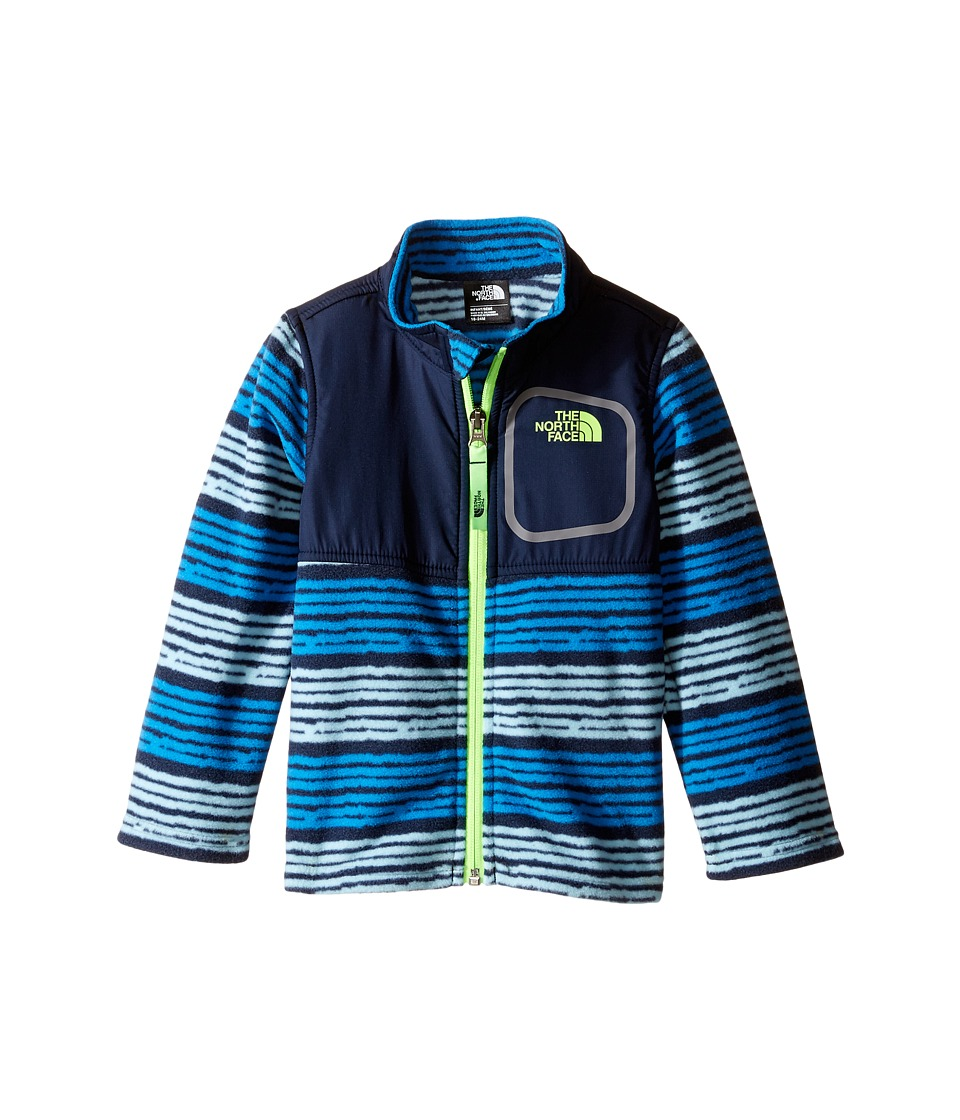 The North Face Kids - Glacier Track Jacket (Infant) (Clear Lake Blue Toddler Digi Stripe Print -Prior Season) Kid's Coat