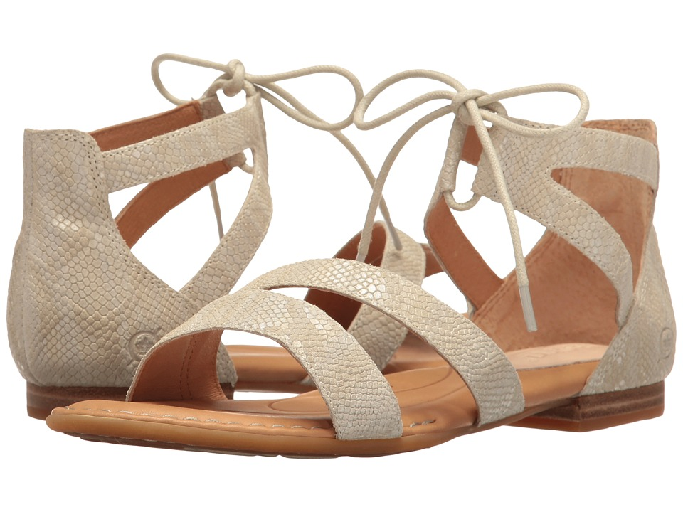 Born - Casma (Cream Snake Print) Women's Dress Flat Shoes
