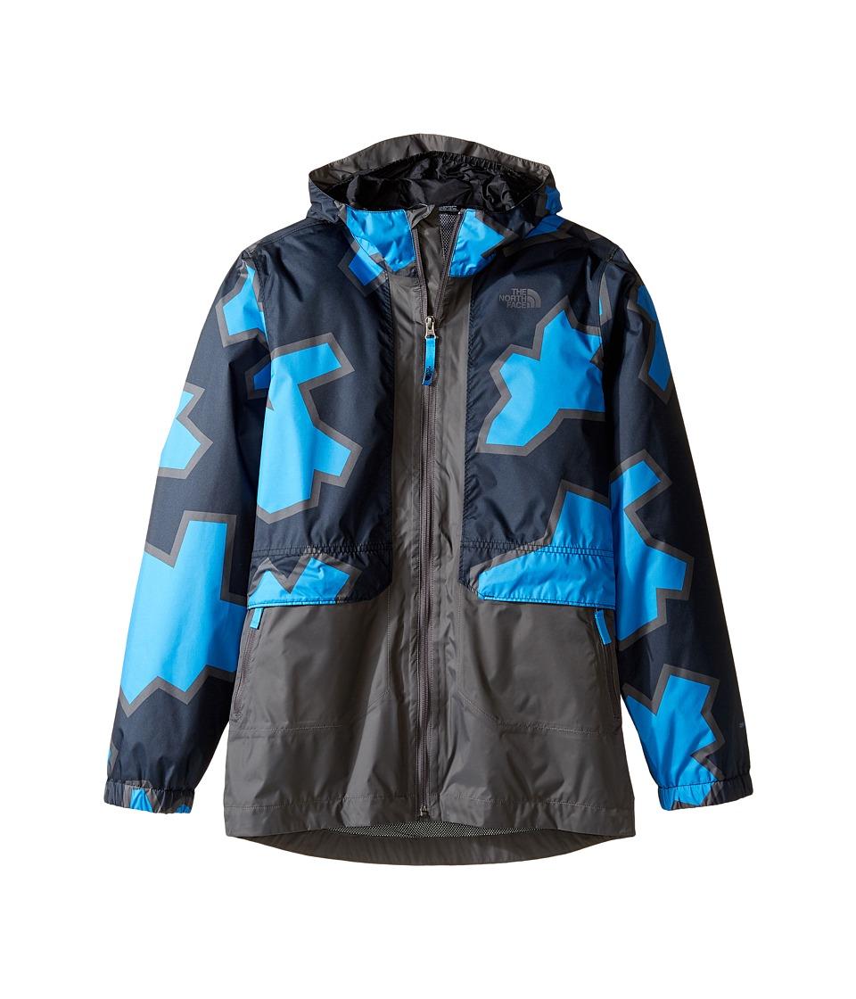 The North Face Kids - Quinn Rain Jacket (Little Kids/Big Kids) (Clear Lake Blue Oversized Geo Print (Prior Season)) Boy's Coat