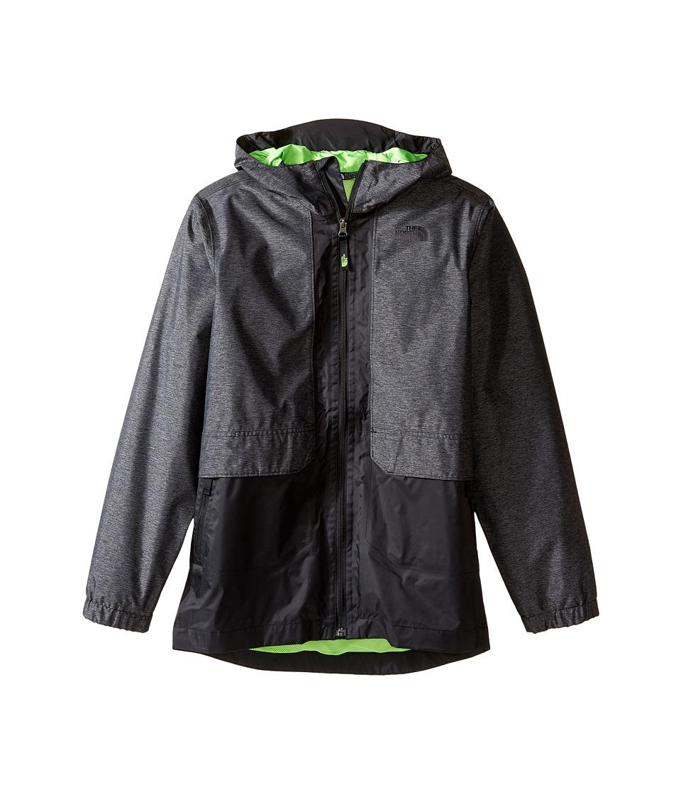 The North Face Kids - Quinn Rain Jacket (Little Kids/Big Kids) (Graphite Grey Heather (Prior Season)) Boy's Coat